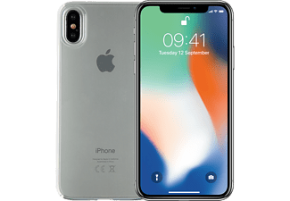 APPLE iPhone X 64 GB, Silber + Spada Ultra Slim Softcover, Ultraklar