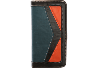 TFC 079 Bookcover Honor 8 Kunstleder Blau/Orange