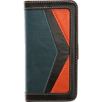 V-DESIGN TFC 079 Bookcover Honor 8 Kunstleder Blau/Orange