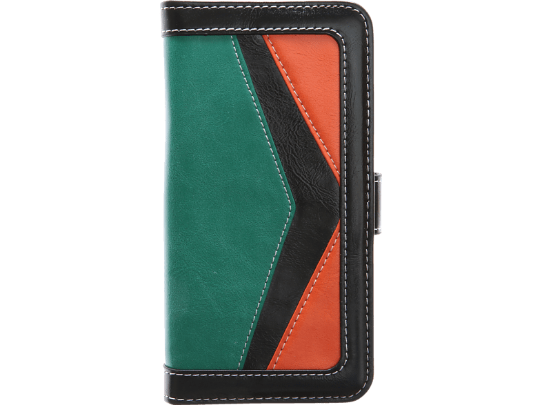 V-DESIGN TFC 080 Bookcover Honor 8 Kunstleder Grün/Orange