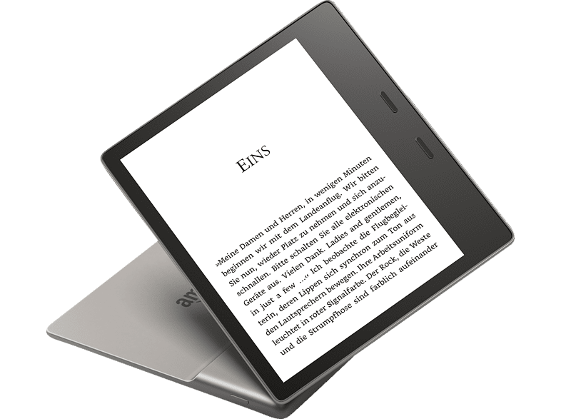 KINDLE New Oasis  8 GB WLAN E-Book Reader Silber/Schwarz