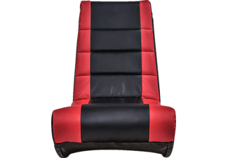 ACE CASUAL Flash 2.0 Floor Rocker Gaming Chair, Gaming Stuhl, Schwarz/Rot