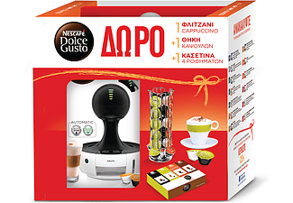 KRUPS Nescafe Dolce Gusto Drop White + Gift Box