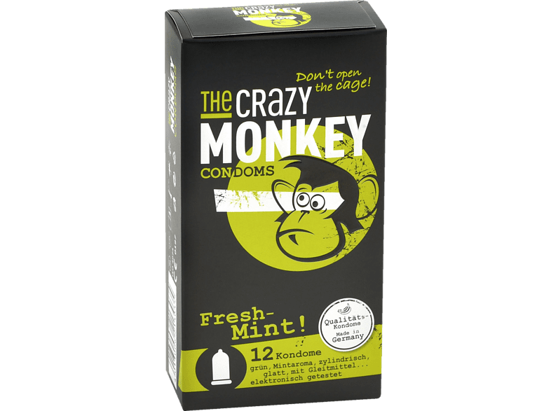 THE CRAZY MONKEY Condoms Fresh Mint 12er Kondom
