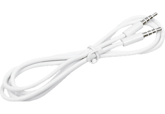AGM 24415, Audiokabel, 1 m, Weiß