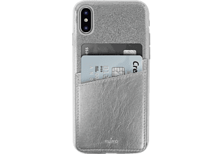 PURO Shine Pocket Backcover Apple iPhone X  Silber