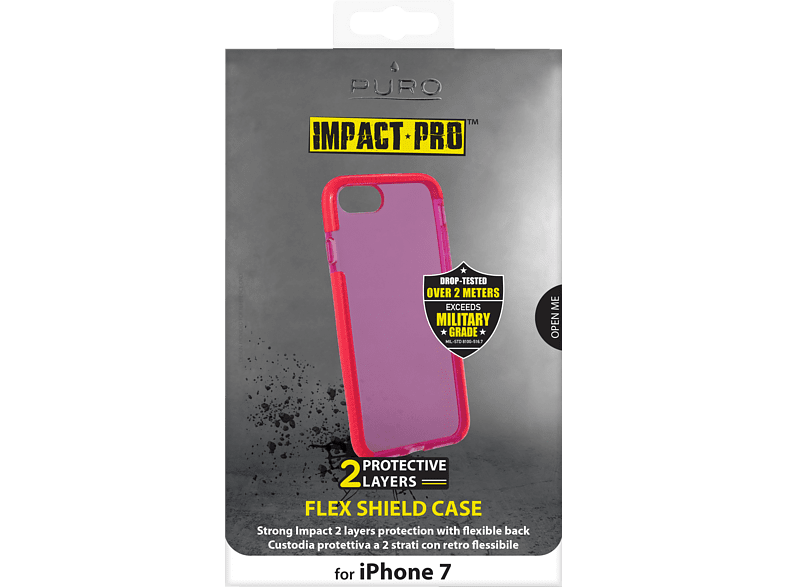 PURO Flex Shield , Backcover, Apple, iPhone 7, Rot