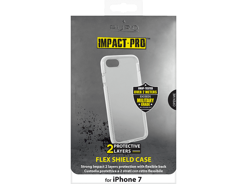 PURO Flex Shield , Backcover, Apple, iPhone 7, Weiß