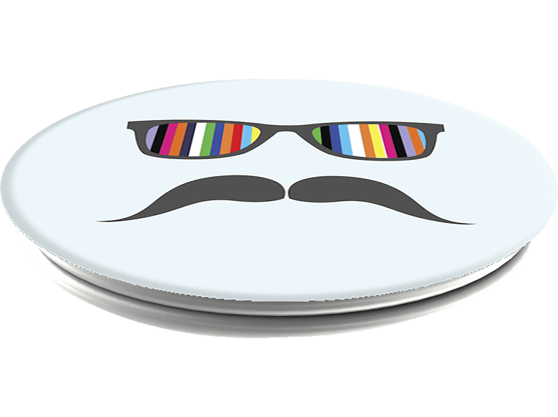 POPSOCKETS MUSTACHE RAINBOW Phone Grip & Stand, mehrfarbig