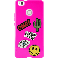 PURO Patch Mania , Backcover, Huawei, P9 lite, Pink