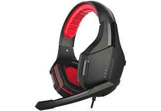 Auriculares gaming - Red Level Gaming Estéreo, Compatible con Ps4, Rojo-Negro