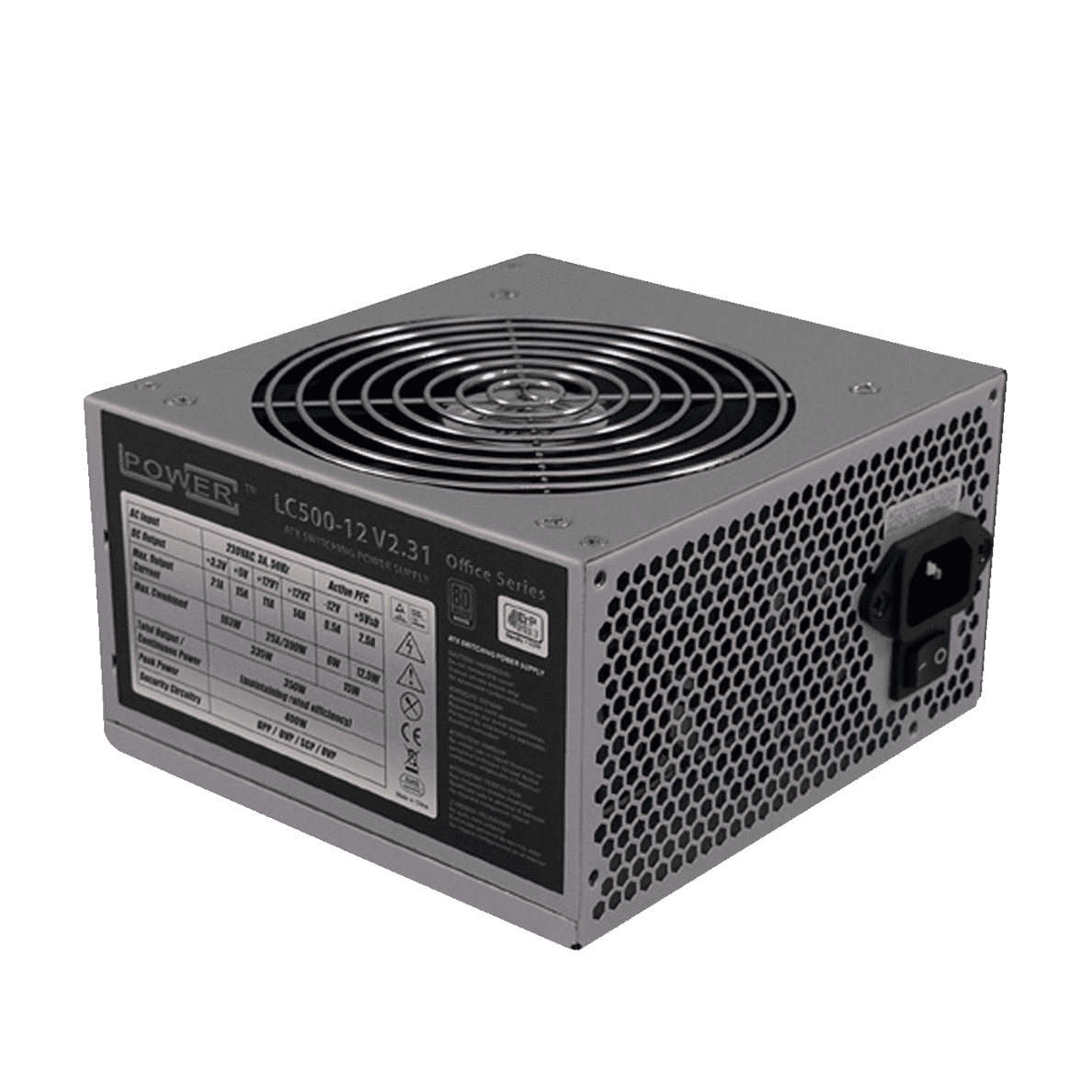 LC-POWER LC500-12 V2.31 - Office Serie PC-Netzteil Silber