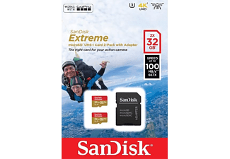 SANDISK Micro SDHC Extreme 32 GB + Adapter 2-Pack