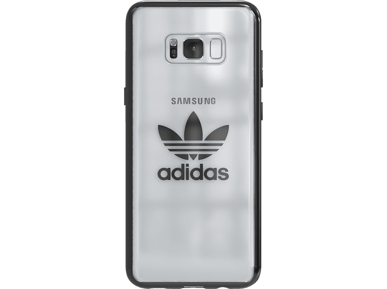 ADIDAS Originals Clear Case , Backcover, Samsung, Galaxy S8+, Thermoplastische Polyurethan, Silber/Metallic