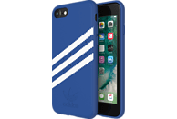 ADIDAS Originals Stripes Case , Backcover, Apple, iPhone 6, iPhone 6s, iPhone 7, iPhone 8, Kunstleder, Blau/Weiß