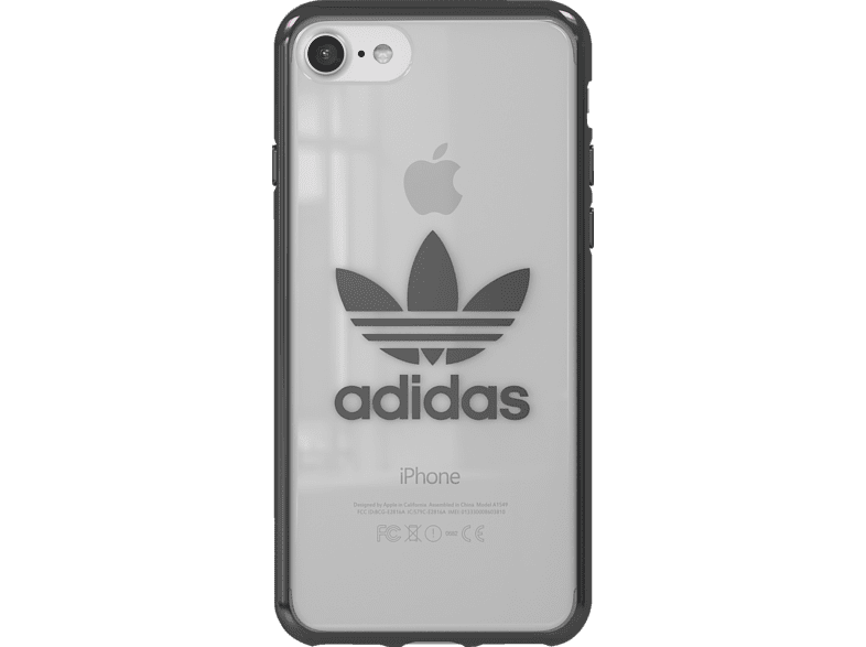 ADIDAS  Originals Clear Case Backcover Apple iPhone 7, iPhone 8 Thermoplastische Polyurethan Silber/Metallic | 08718846050449