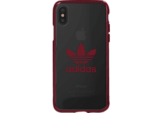ADIDAS Originals Clear Case Handyhülle, Rot, passend für Apple iPhone X