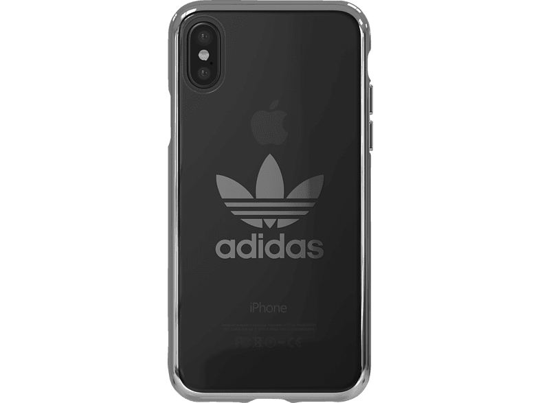 ADIDAS  Originals Clear Case Backcover Apple iPhone X Weiß | 08718846051439