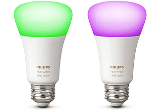 PHILIPS HUE White and Color Ambiance izzó E27, 2 db, színes