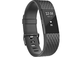 FITBIT Charge 2 Gunmetal  Small Siyah