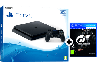 SONY Set PlayStation 4 500GB E Black μαζί με GT SPORT D1