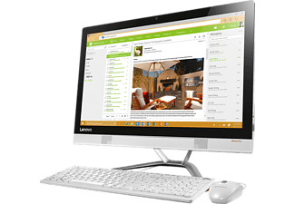 All in one - Lenovo ideacentre AIO 300-23ISU, i3-6100U, 4GB RAM, 1 HDD 1TB, Blanco