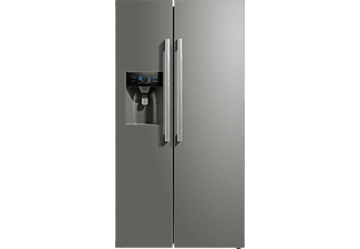 MIDEA KS 6.2 ICE, Side-by-Side, A++, 1788 mm hoch, 895 mm breit, Inox