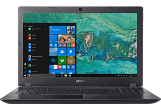 ACER Aspire 3 (A315-51-33NB), Notebook mit 15.6 Zoll Display, Core™ i3 Prozessor, 4 GB RAM, 128 GB SSD, HD Graphics 620, Schwarz