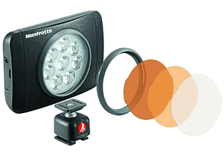 Luz LED - Manfrotto Luz LED LUMIMUSE 8, Rótula de bola, Negro