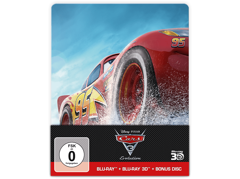 Cars 3: Evolution Steelbook [3D Blu-ray (+2D)]