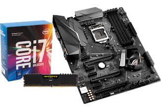 INTEL Core™ i7-7700K, 4.2 GHz + ASUS ROG Strix Z270F Gaming + CORSAIR Vengeance LPX 16GB, DDR4-3000