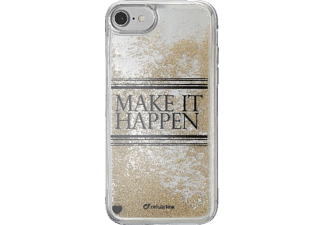 CELLULAR LINE Stardust Hard Cover Handyhülle, Transparent, passend für Apple iPhone 7, iPhone 8