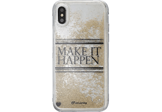 CELLULAR LINE Stardust Hard Cover Handyhülle, Transparent, passend für Apple iPhone X