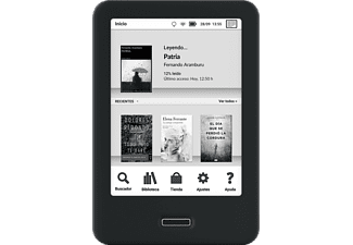 eReader - BQ Cervantes 4, 8 GB, E-Ink Carta, OptimaLight, Para eBook, Negro