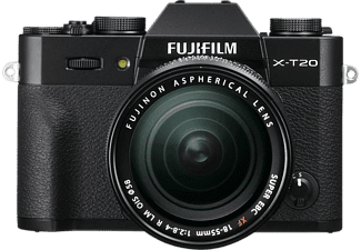 FUJI FILM X-T20 + XF 18-55 mm fekete Kit