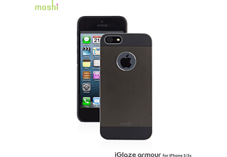 MOSHI iGlaze Armour Handyhülle, Gun Metal Grey, passend für Apple iPhone 5, iPhone 5s, iPhone SE