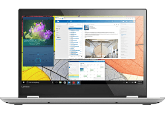 LENOVO Yoga 520, Convertible mit 14 Zoll, 512 GB Speicher, 8 GB RAM, Core™ i5 Prozessor, Windows 10 Home 64bit, Mineral Grey