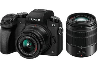 PANASONIC Appareil photo hybride Lumix DMC-G7 + 14-42 mm + 45-150 mm