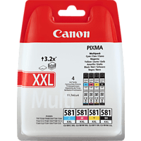 CANON CLI-581 XXL Photo Value Pack Tintenpatrone mehrfarbig (1998C005AA)