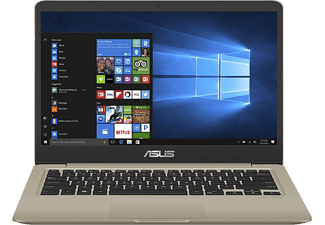 "ASUS VivoBook S410UN-EB041T arany notebook (14"" FHD/Core i5/8GB/128GB SSD+1TB HDD/MX150 2GB/Windows 10)"