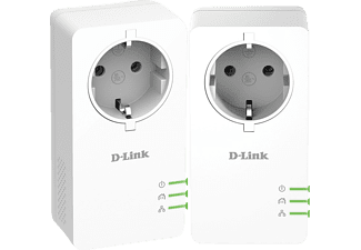 D-LINK 1000Mbit SchuKo Powerline AV2 Kit Powerline Adapter, Weiß