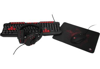 DELTACO GAMING 4-in-1 Gaming Kit - Tangentbord/Mus/Musmatta/Headset