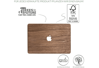 WOODCESSORIES EcoSkin, Backcover, MacBook Air, MacBook Pro, 13.3 Zoll, Walnussholz