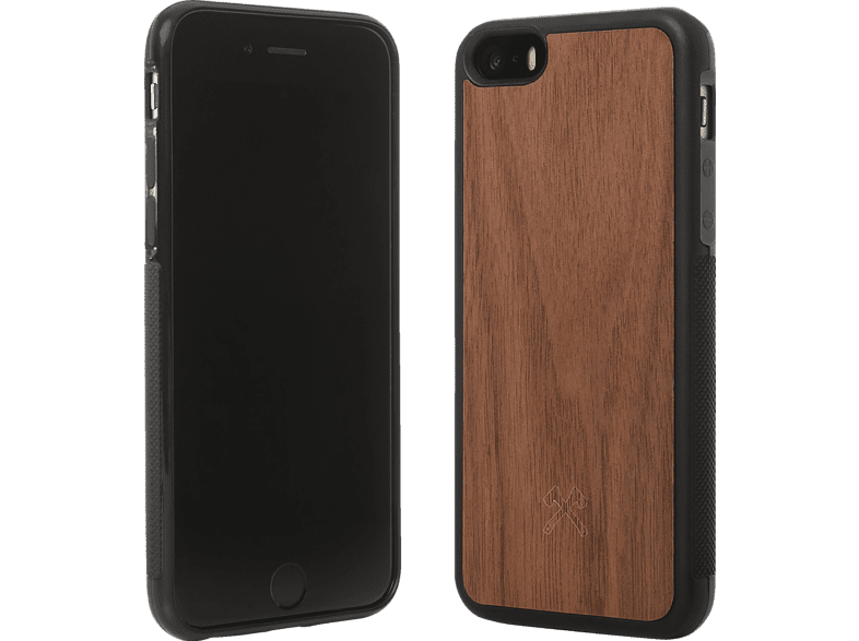 WOODCESSORIES  EcoBumper Backcover Apple iPhone 7, iPhone 8 Walnuss Echtholz/Silikon Walnuss/Schwarz | 04260382632954