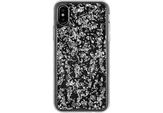 FLAVR IPLATE FLAKES Handyhülle, Transparent/Silber, passend für Apple iPhone X