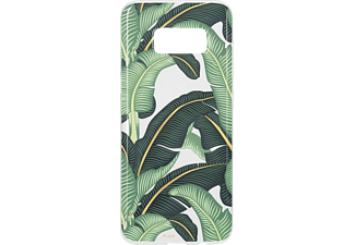 FLAVR IPLATE BANANA LEAVES Handyhülle, Transparent, passend für Samsung Galaxy S8