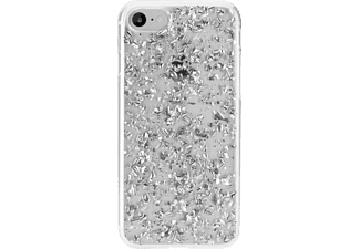 FLAVR IPLATE FLAKES Handyhülle, Transparent/Silber, passend für Apple iPhone 6, iPhone 7, iPhone 8