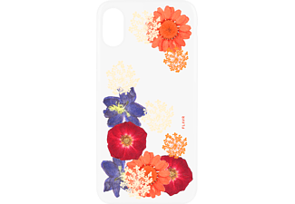 FLAVR IPLATE REAL FLOWER AMELIA Handyhülle, Transparent, passend für Apple iPhone X