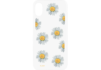FLAVR IPLATE REAL FLOWER DAISY IP X iPhone X Handyhülle, Transparent