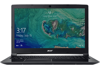 ACER Aspire 7 (A715-71G-78N3), Gaming Notebook mit 15.6 Zoll Display, Core™ i7 Prozessor, 8 GB RAM, 256 GB SSD, 1 TB HDD, GeForce® GTX 1050Ti, Schwarz